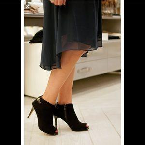 Ann Taylor Emilia  Peep Toe Booties Sz: 7